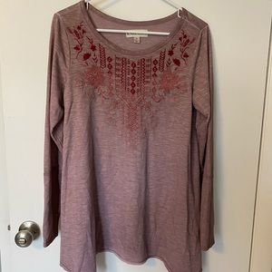 NWOT 🌸🌺 Knox Rose Embroidered Tunic Medium